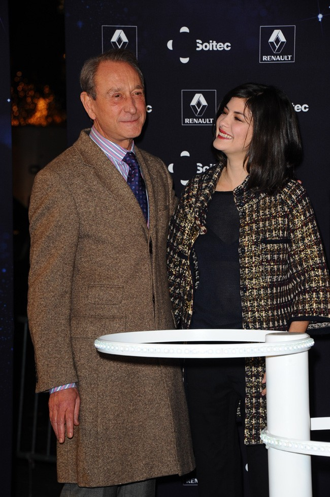 Avec le maire de Paris, Bertrand Delanoë