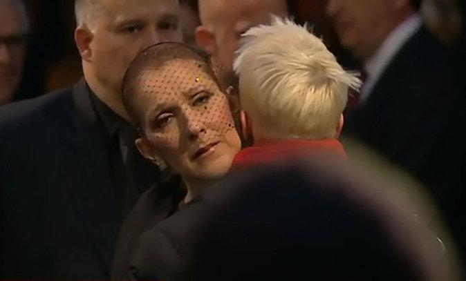Photos : Aux funérailles de René, Céline Dion a un mot pour chacun