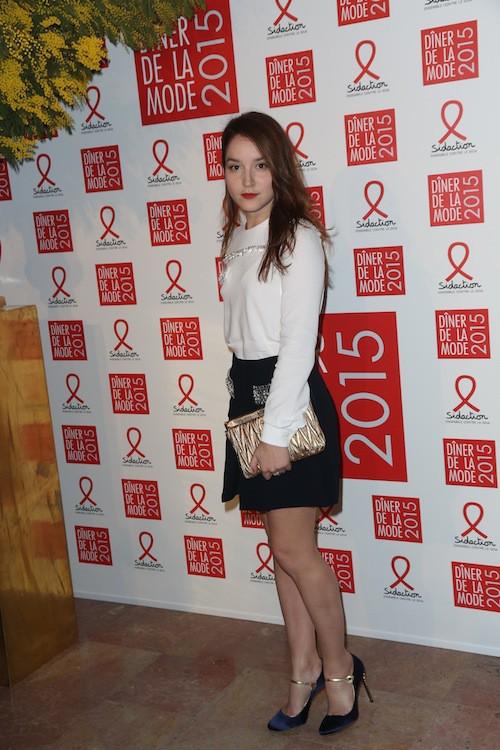 Anaïs Demoustier au dîner de la mode, le 29 janvier 2015