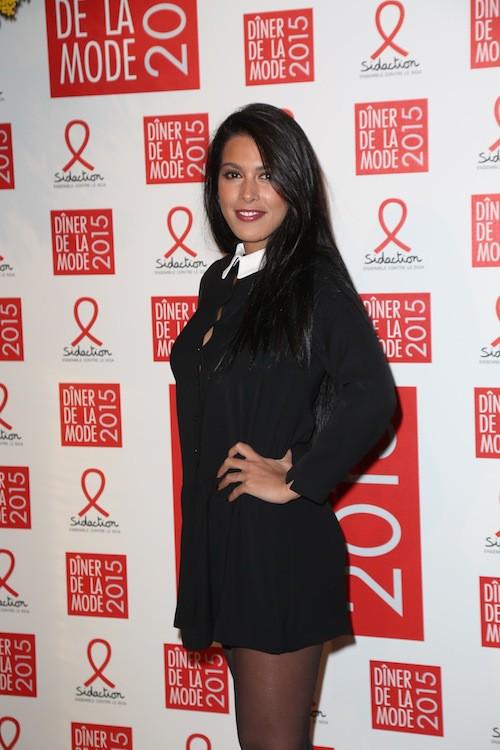 Ayem Nour au dîner de la mode, le 29 janvier 2015
