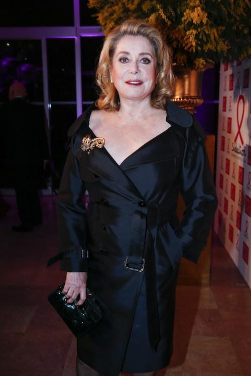 Catherine Deneuve au dîner de la mode, le 29 janvier 2015