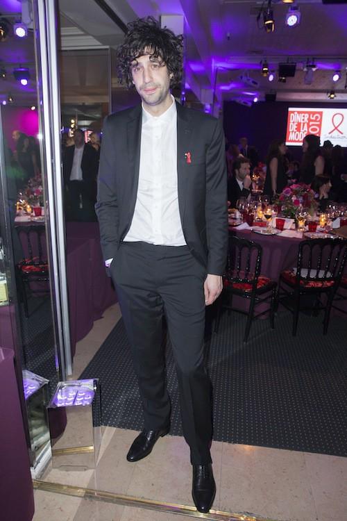 Max Boublil au dîner de la mode, le 29 janvier 2015