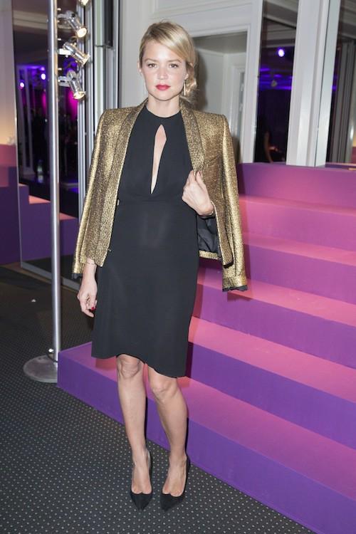 Virginie Efira au dîner de la mode, le 29 janvier 2015