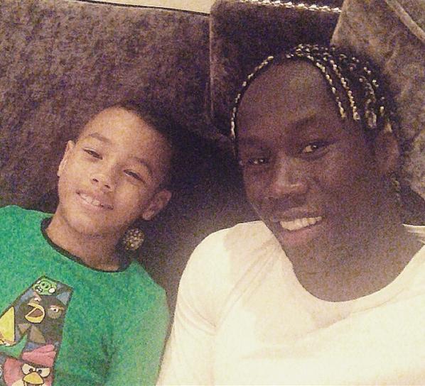 Photos : Bacary et Ludivine Sagna : parents comblés !