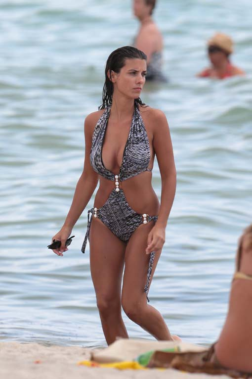 Bacary et Ludivine Sagna en vacances à Miami le 18 juillet 2014