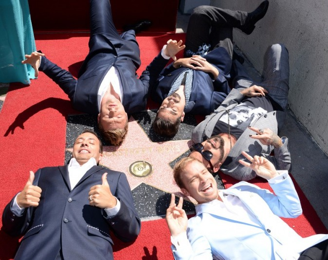 Les Backstreet Boys sur le Walk of Fame à Hollywood, le 22 avril 2013.