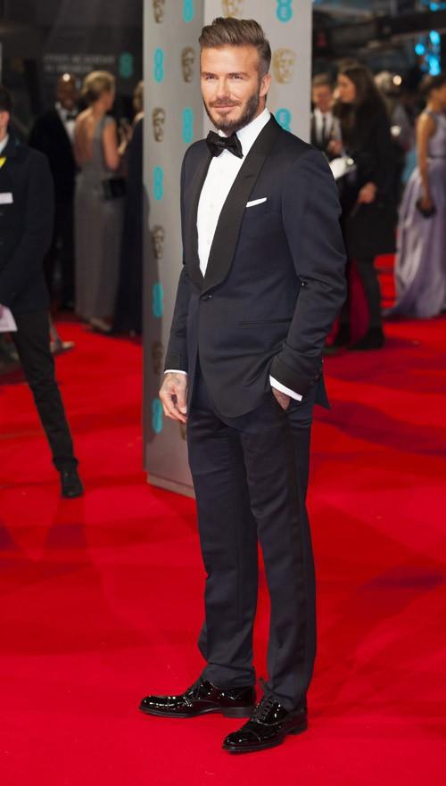 David Beckham à Londres le 8 février 2015