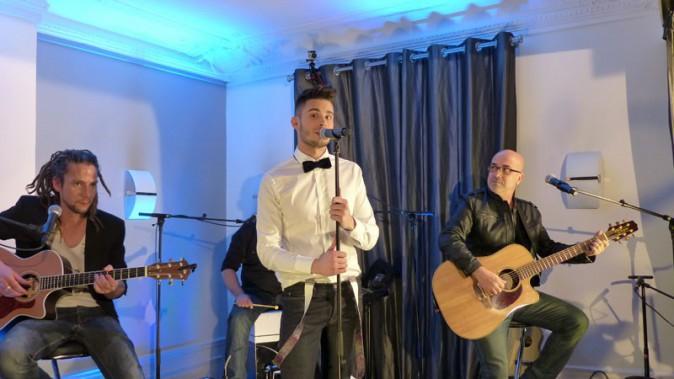 Baptiste Giabiconi en showcase à Paris le 13 février 2014