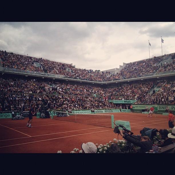Juste en face de Djokovic
