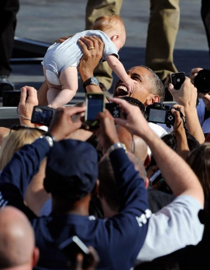 Barack Obama aime les enfants