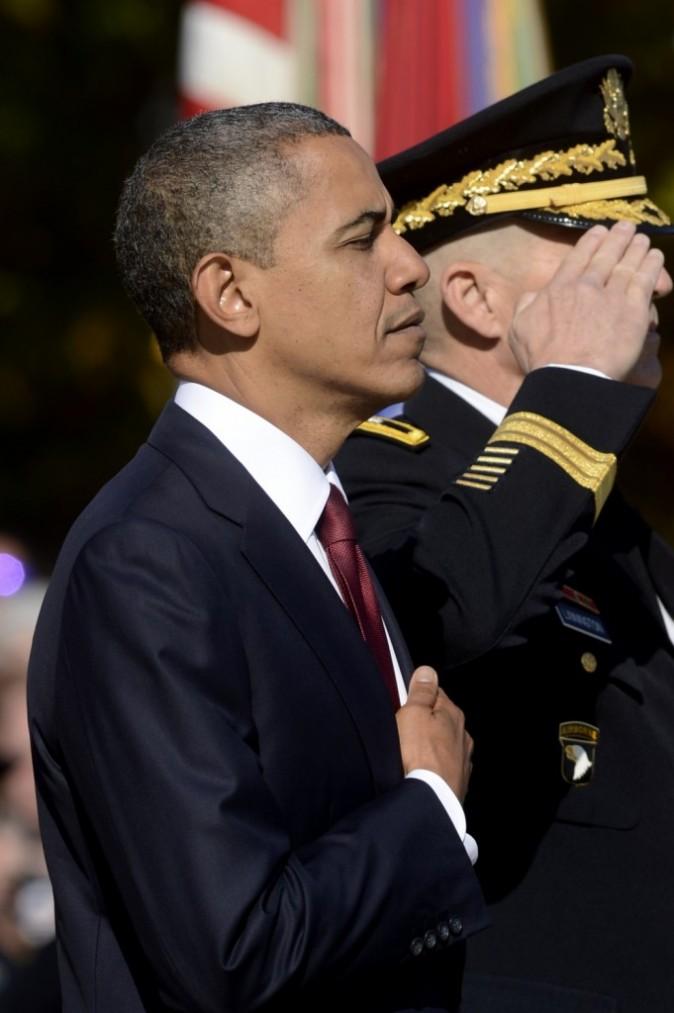 Barack Obama et le commandant de l'armée militaire