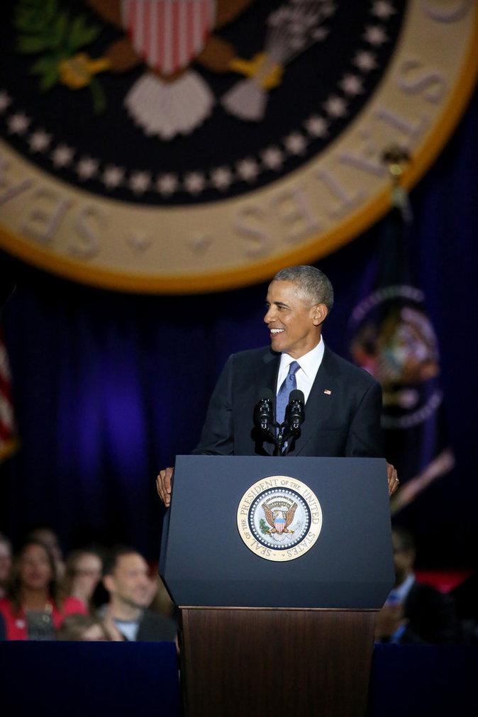 Photos : Barack Obama en larmes pour son discours d'adieu...