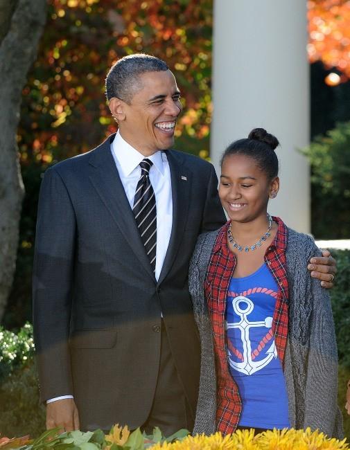 Barack Obama et sa fille Sasha le 21 novembre 2012