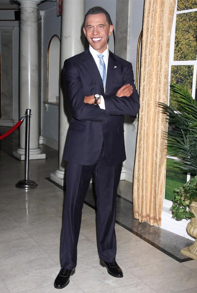 La statue d'Obama au musée de cire de New York ne risque pas de prendre une ride, elle !