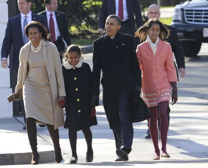 La famille Obama en 2011