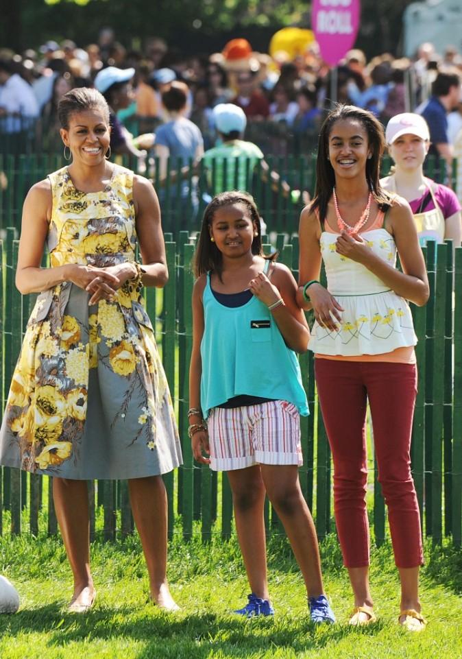 Les femmes Obama en 2011