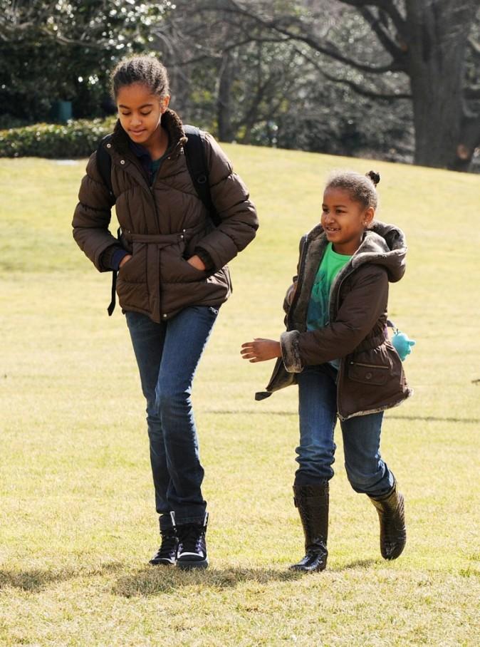 Malia et Sasha en 2009