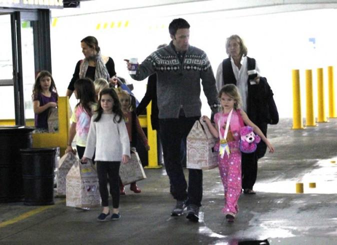 Ben Affleck et Violet le 1er décembre 2012 à Westwood