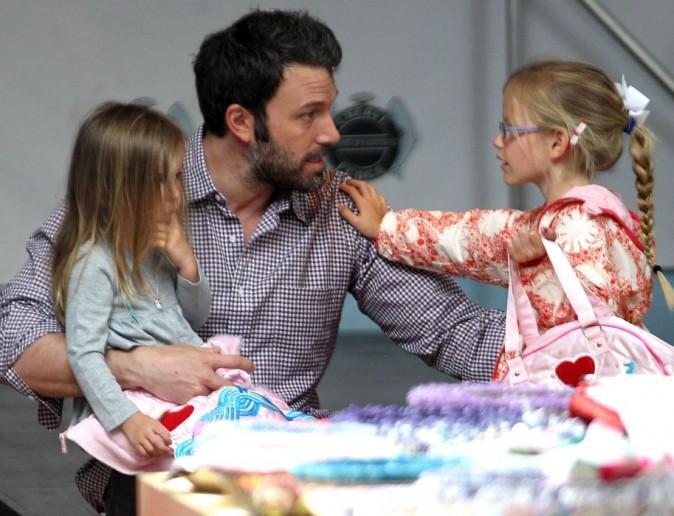 L'acteur est ravi de cette après-midi père-filles