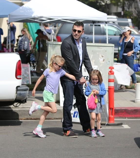 Ben Affleck, Violet et Seraphina, Los Angeles, 30 avril 2013