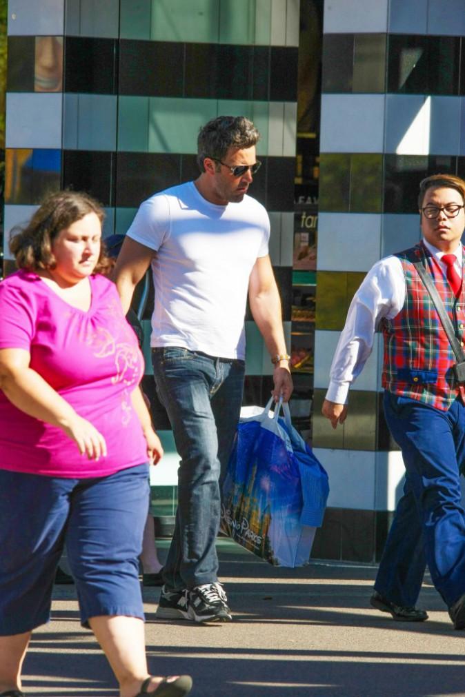 Ben Affleck et sa fille Seraphina à Disneyland le 26 août 2014.