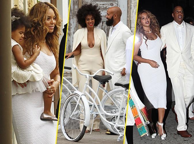Photos  Beyoncé  absolument sublime en blanc au mariage de Solange, une famille plus unie que jamais !