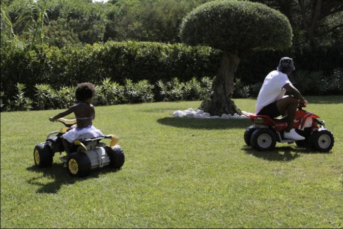 Jay-Z et Blue Ivy le 1er octobre 2014