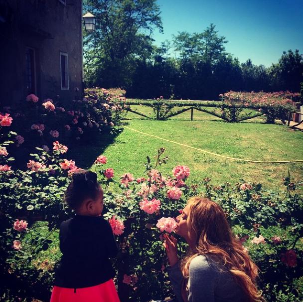 Beyoncé et Blue Ivy le 7 juin 2015