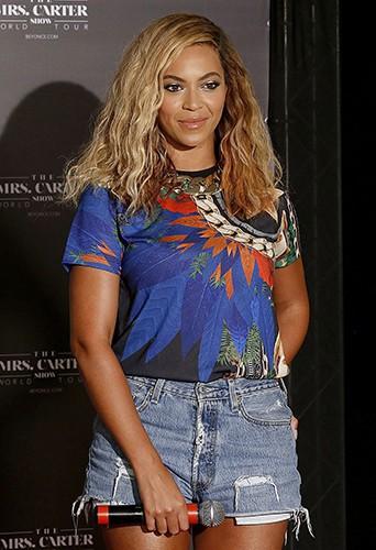 Beyoncé à Fortaleza le 8 septembre 2013