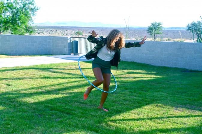 Reine du hula hoop ?