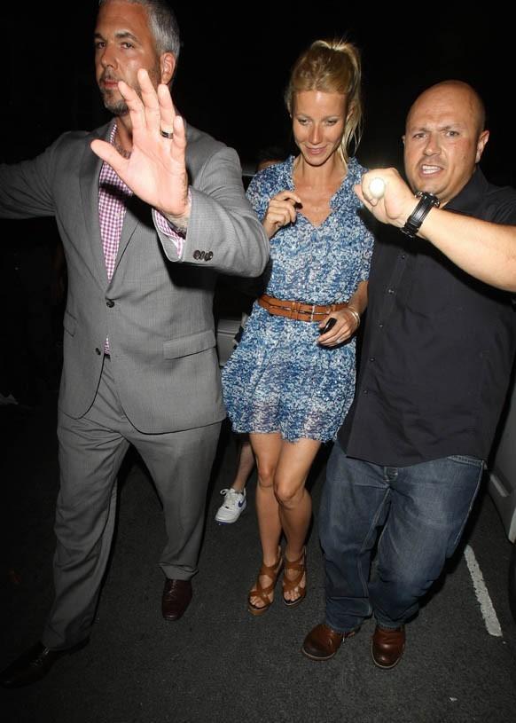 Gwyneth Paltrow se rendant à la soirée de lancement du nouvel album de Beyoncé à Londres, le 27 juin 2011.
