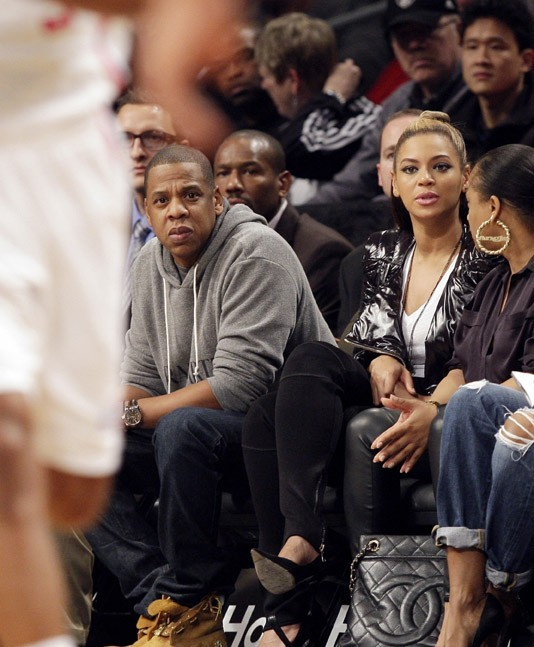 Jay Z et Beyoncé au Barclays Center de New-York le 23 novembre 2012