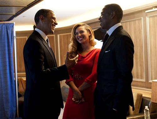 Beyoncé entourée de Barack Obama et Jay-Z !