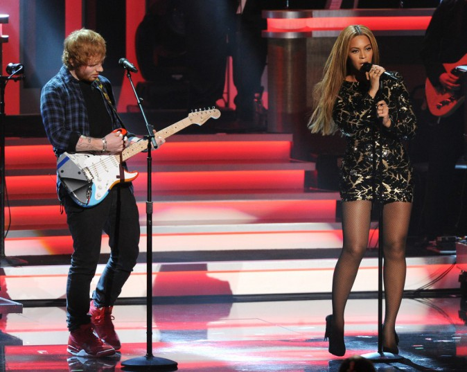 Photos : Beyoncé et Ed Sheeran : un duo de choc en hommage à Stevie Wonder !