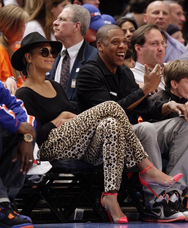 Beyonce et Jay-Z au Madison Square Garden à New York, le 15 avril 2012.