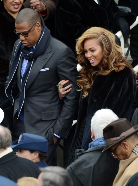 Beyonce et Jay Z, Washington, 21 janvier 2013.