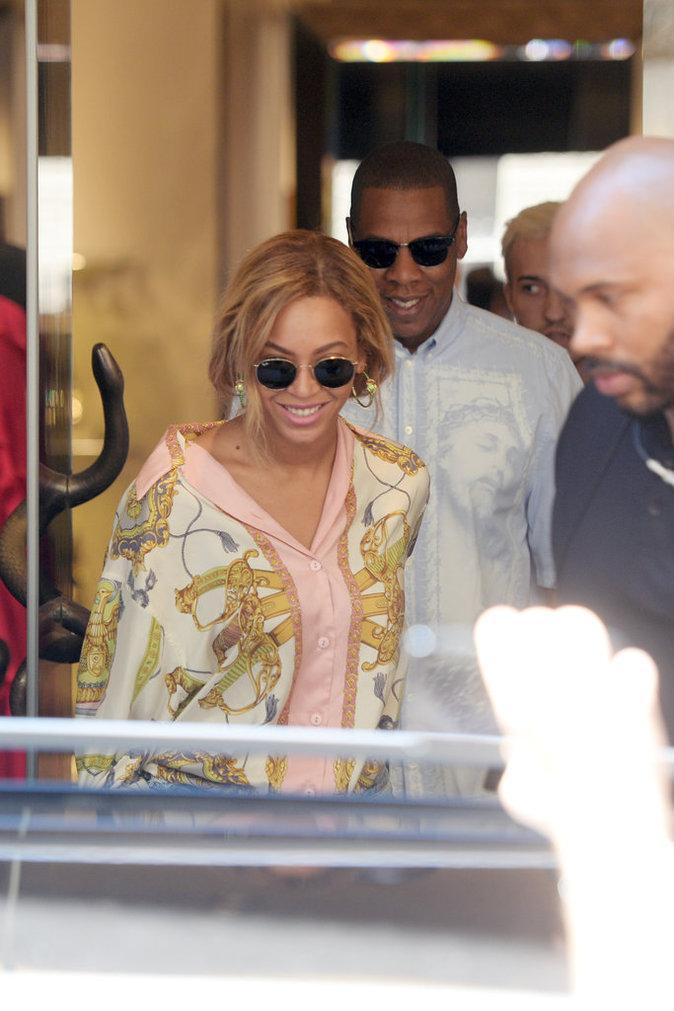 Photos : Beyoncé et Jay-Z : Virée shopping de luxe en Italie