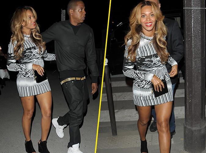 Beyonc� : heureuse et radieuse dans la nuit parisienne, aux c�t�s de son Jay-Z !