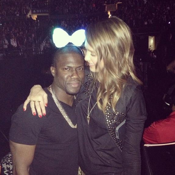 Jessica Alba et l'acteur Kevin Hart au concert de Beyoncé à L.A !