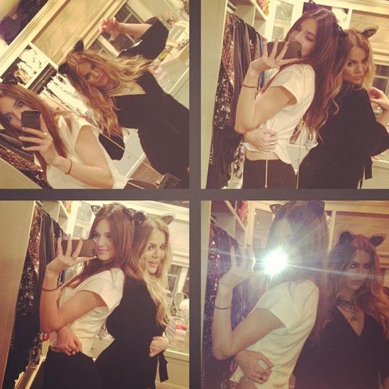 Kendall Jenner et Khloé Kardashian avant d'aller au concert de Beyoncé à L.A !