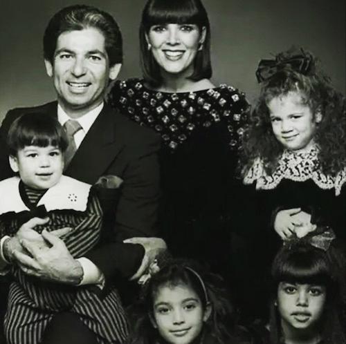 """Kris Jenner avec Robert Kardashian, Khloe, Rob, Kourtney, Kim : """"Je suis la plus bennie des femmes et je chéris chacun des souvenirs que j'ai de vo..."""