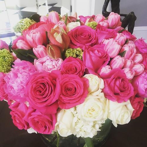 Kris Jenner ravie du bouquet envoyé par son fils, Rob kardashian