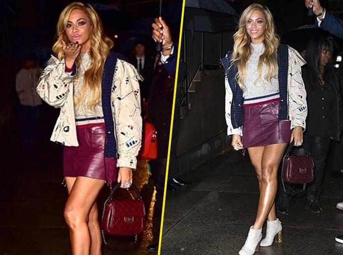 Beyonc� : la reine des looks styl�s fait une apparition surprise au d�fil� Chanel !