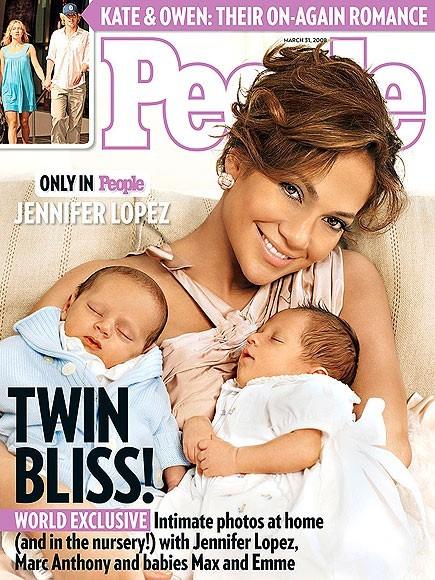 Jennifer Lopez avec Max et Emme