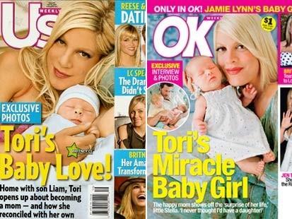 Tori Spelling, business à chaque accouchement ?