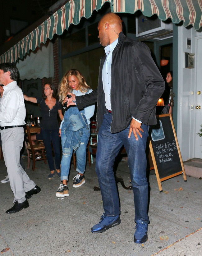 Beyoncé à New-York le 27 septembre 2015