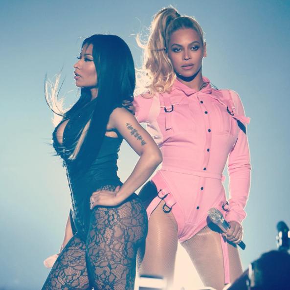 Nicki Minaj et Beyoncé au concert Tidal le 20 octobre 2015