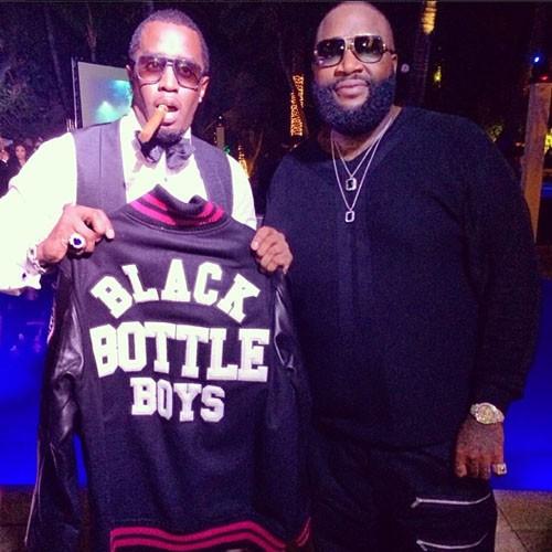 P. Diddy et Rick Ross lors du réveillon du nouvel an à Miami, le 31 décembre 2013.