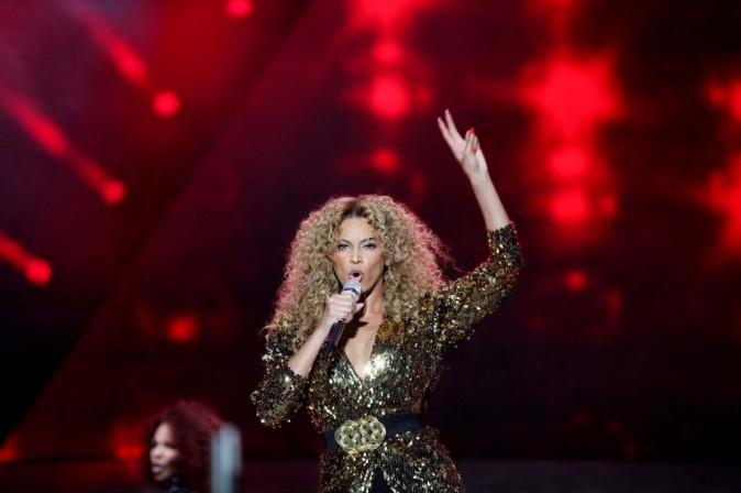 La star a chanté de nombreux titres...
