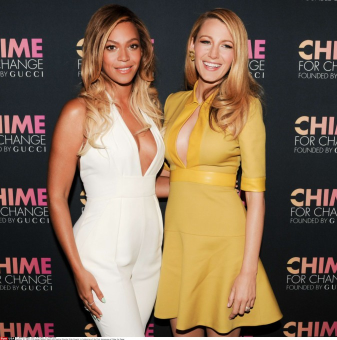 """Beyoncé et Blake Lively fêtent les 1 an de la campagne internationale """"Chime for Change"""" !"""